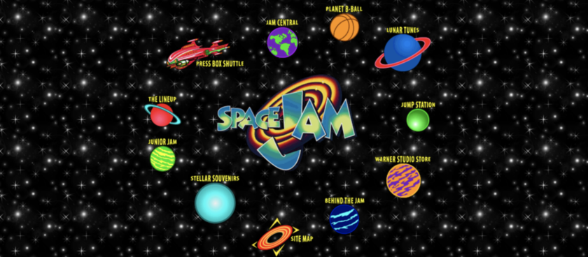 Space Jam Website 1996